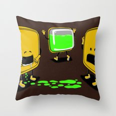 Radioactive Tupper Throw Pillow