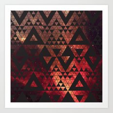 Space Triangles No. 3 Art Print