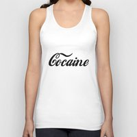 cocaine Tank Tops featuring Cocaine by Anfetamina