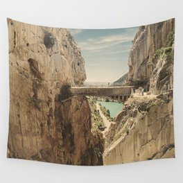 """""""The most dangerous trail in the world"""". El Caminito del Rey Wall Tapestry"""