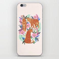 The Leopards, leopard print, animal print, flower print iPhone & iPod Skin