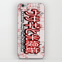 fullmetal alchemist iPhone & iPod Skins featuring FullMetal Rabbit by Rabbit and the Raygun