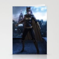 batgirl Stationery Cards featuring Batgirl by patriciogandara