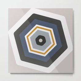 hexagon purple Metal Print