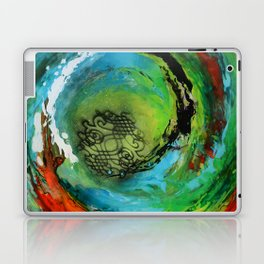 Maelstrom, captivating abstract painting Laptop & iPad Skin