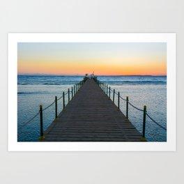 Sunrise on Red Sea Art Print