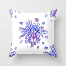 Zero Gravity Crystals II Throw Pillow