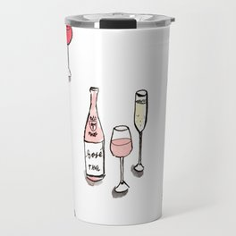 #DrinkWineDay Pattern Travel Mug