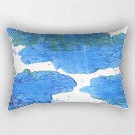 Bleu de France abstract watercolor Rectangular Pillow