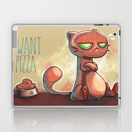 I want pizza. Laptop & iPad Skin
