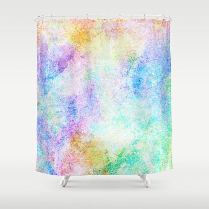 Pastel Color Splash 04 Shower Curtain by serigraphonart | Society6