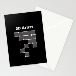3D Artist Stationery Cards
