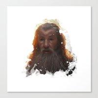 gandalf Canvas Prints featuring Gandalf by Ryky