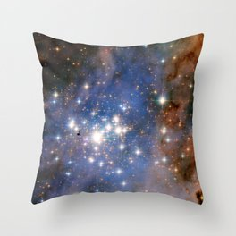 Star cluster Trumpler 14 in the Milky Way (NASA/ESA Hubble Space Telescope) Throw Pillow
