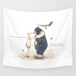 Winter gift for Bear Wall Tapestry