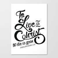 verse Canvas Prints featuring Typographic Verse by Ruthie Designs