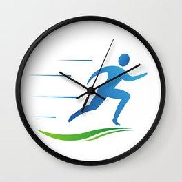Man Runner Going Fast Wall Clock