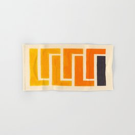 Orange & Black Geometric Pattern Hand & Bath Towel