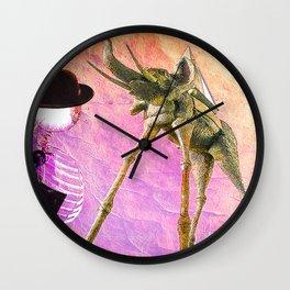 Monsieur Bone et le monde de Dali  Wall Clock