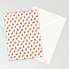 Orange Leaves Stationery Cards