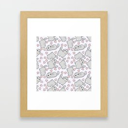 Angry Cat Candy Hearts Framed Art Print