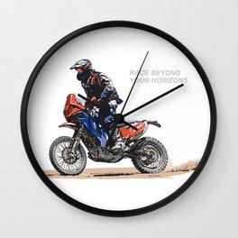 RACE BEYOND Wall Clock
