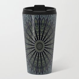 Dark Blue Mandala Travel Mug