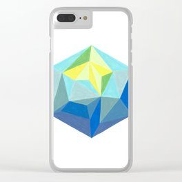 Polygonal art 1 Close up Clear iPhone Case