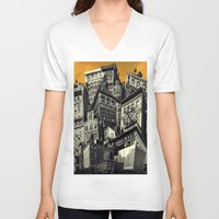 cityscape V-neck T-shirts featuring Cityscape by Chris Lord
