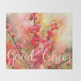 Good cheer with winter berries Throw Blanket