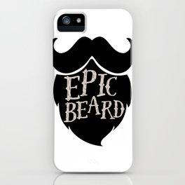 Epic Beard black iPhone Case