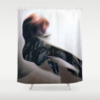 moth Shower Curtains featuring Moth by Stephen Linhart