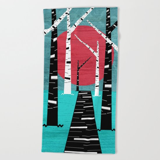 Woodland Walk Beach Towel