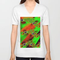wind V-neck T-shirts featuring wind by donphil