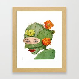 Lady Cactaceae Day Framed Art Print