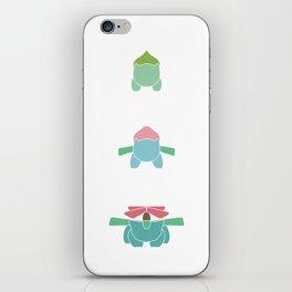 Minimalist Poké : Bulba Evolution iPhone Skin