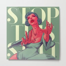 Stop! Canvas Print Metal Print
