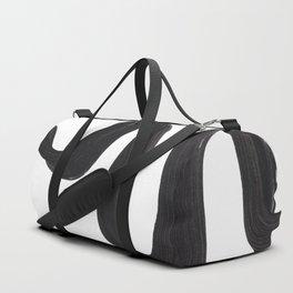 Black And White Minimalist Mid Century Abstract Ink Art Genie Aladdin Smoke Jin Lamp Minimal Smoke Duffle Bag