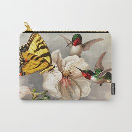 Ruby-throated Hummingbirds & Butterfly Portrait Carry-All Pouch