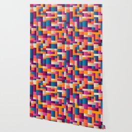 Bright Tiled Mosaic Wallpaper