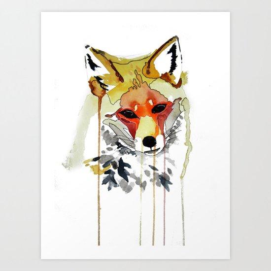Orange Fox Art Print
