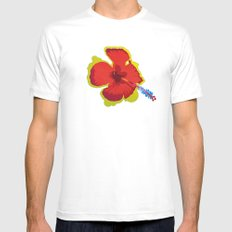 What the Flux... White Mens Fitted Tee MEDIUM