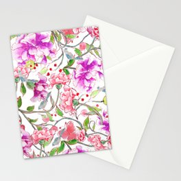 peony pattern Stationery Cards