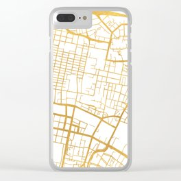 GLASGOW SCOTLAND CITY STREET MAP ART Clear iPhone Case