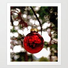Simple Christmas bulb Art Print