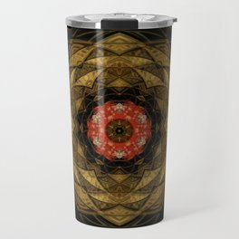 Red and Gold Kaleidoscope Travel Mug