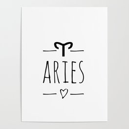 Aries ,zodiac sign Poster