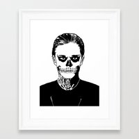 kris tate Framed Art Prints featuring Tate  by Kramcox