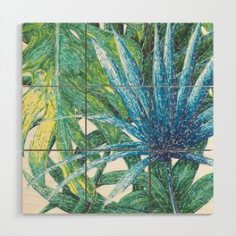 Philodendron & Flora Wood Wall Art