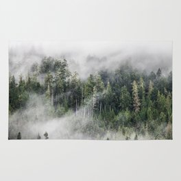 Mist on the Mountain, Lake Crescent, Washington Rug